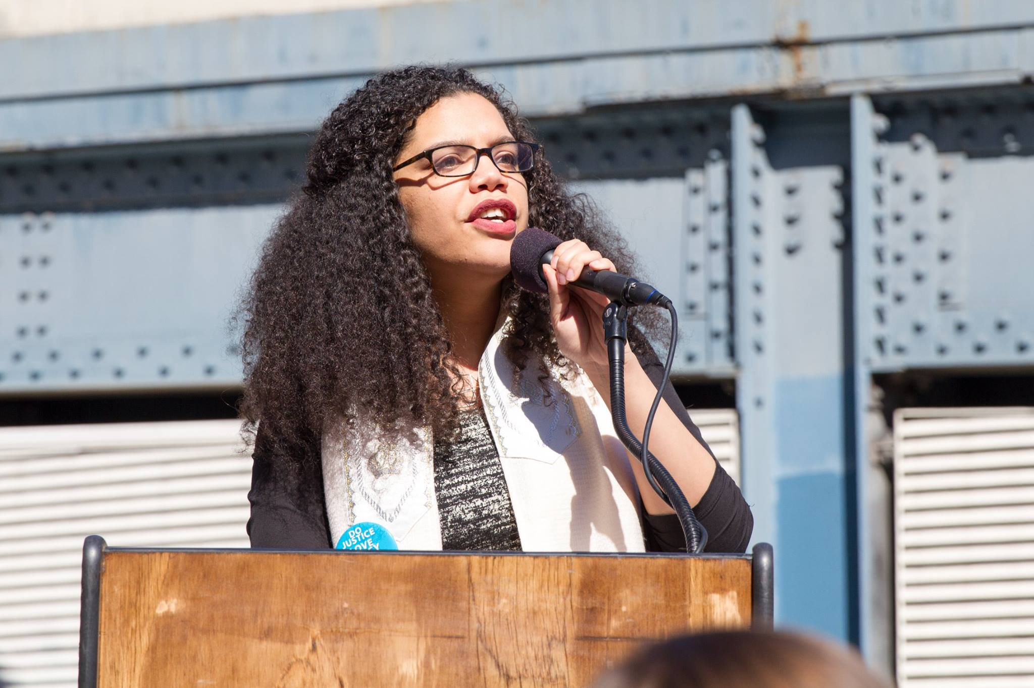 Speaking at the March for Racial Justice - Credit: Mirah Curzer