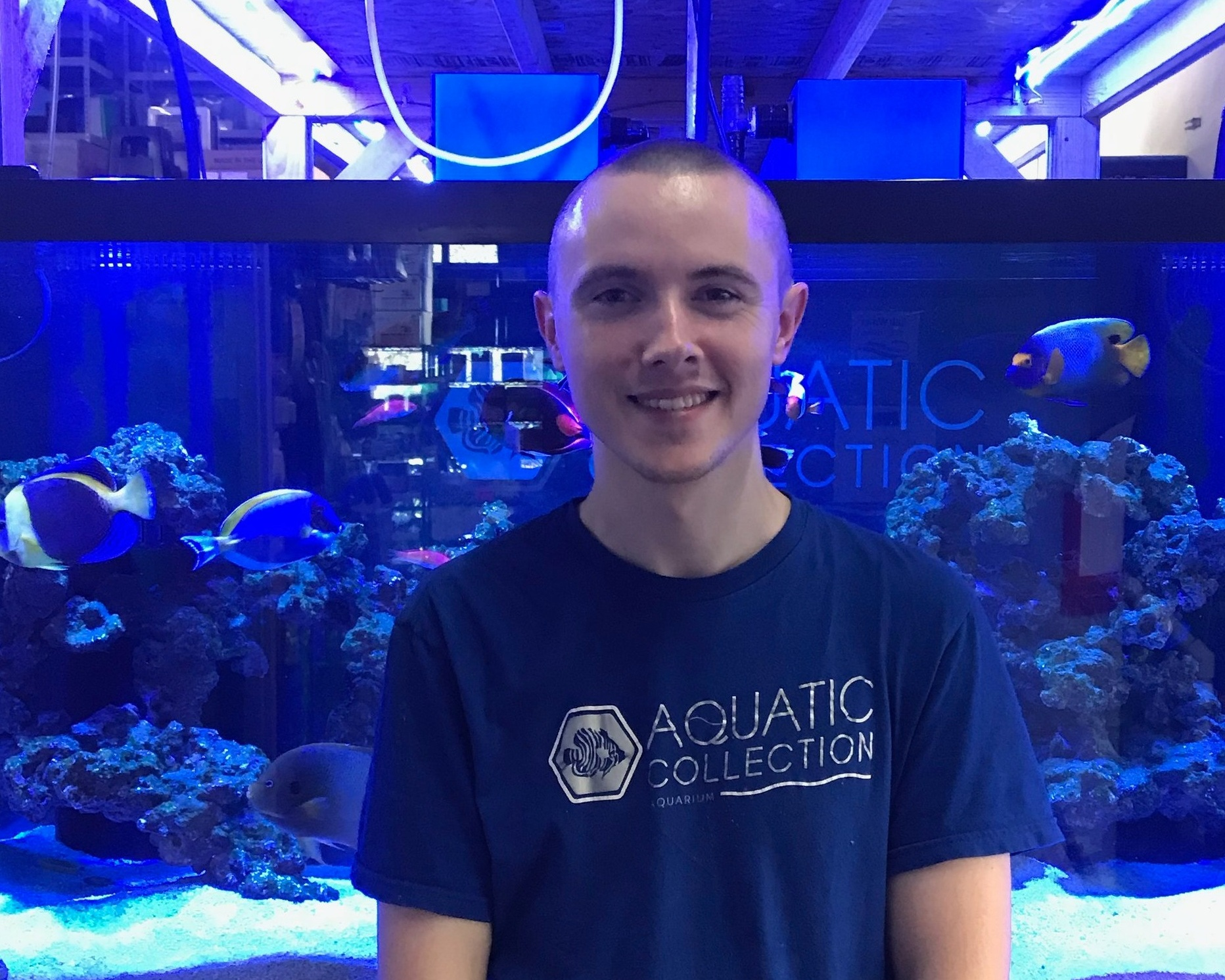 Colby - Colby has been working at Aquatic Collection for three years. He has been keeping fish tanks since he was ten years old, but got serious about growing coral eight years ago. Colby's favorite coral are mushrooms and he loves wrasses. Not only does Colby know a ton about coral, but he's also a total freshwater expert! Stop by and say
