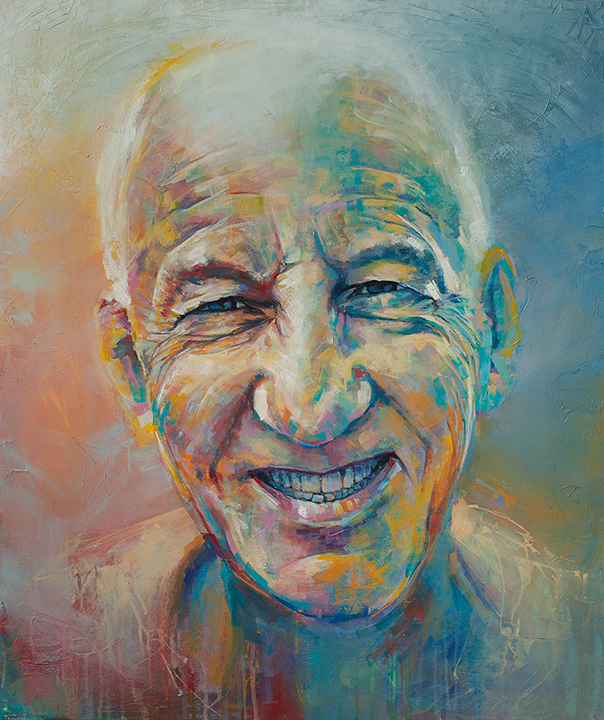 Bill Nelems, Colorful Portrait Painting