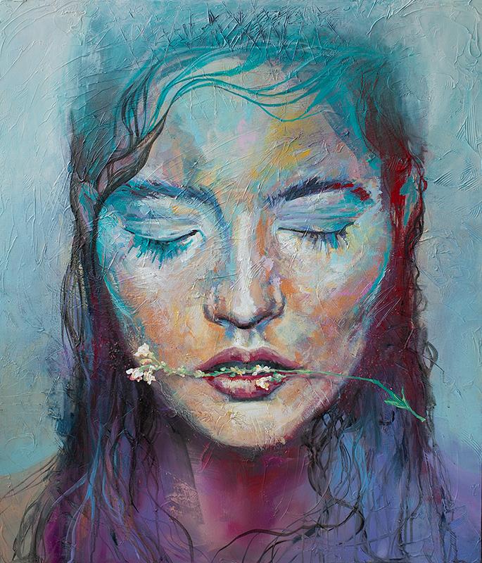 Eve, Bold, Colorful Portrait Art