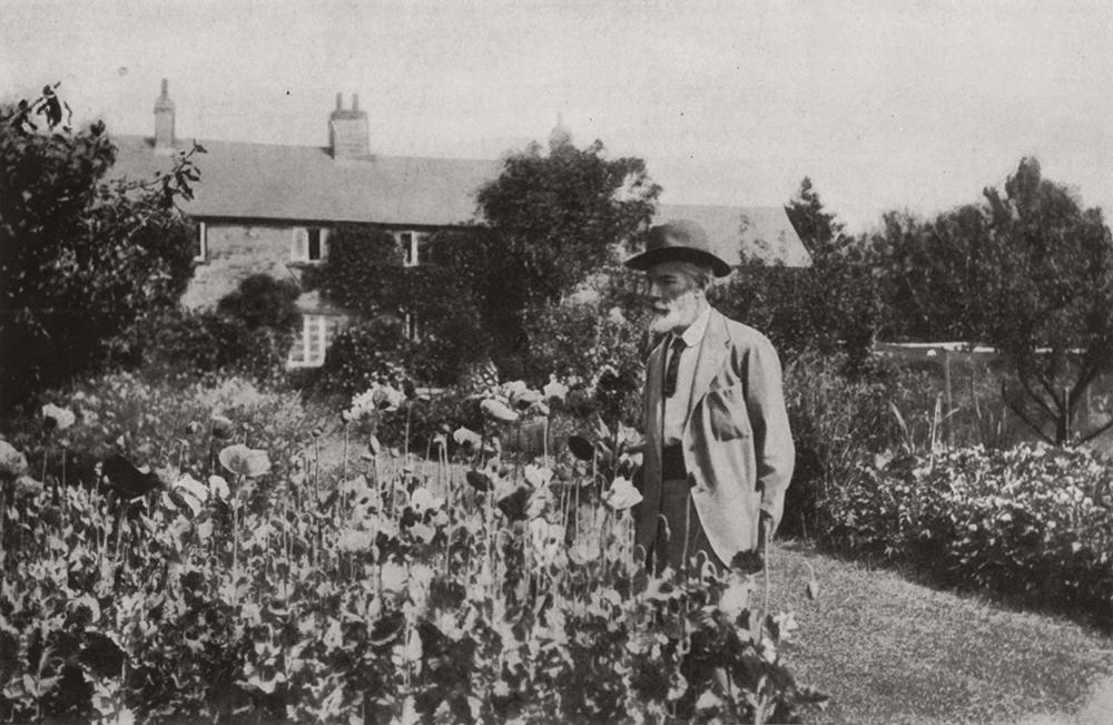 Edward Carpenter in his garden at Millthorpe
