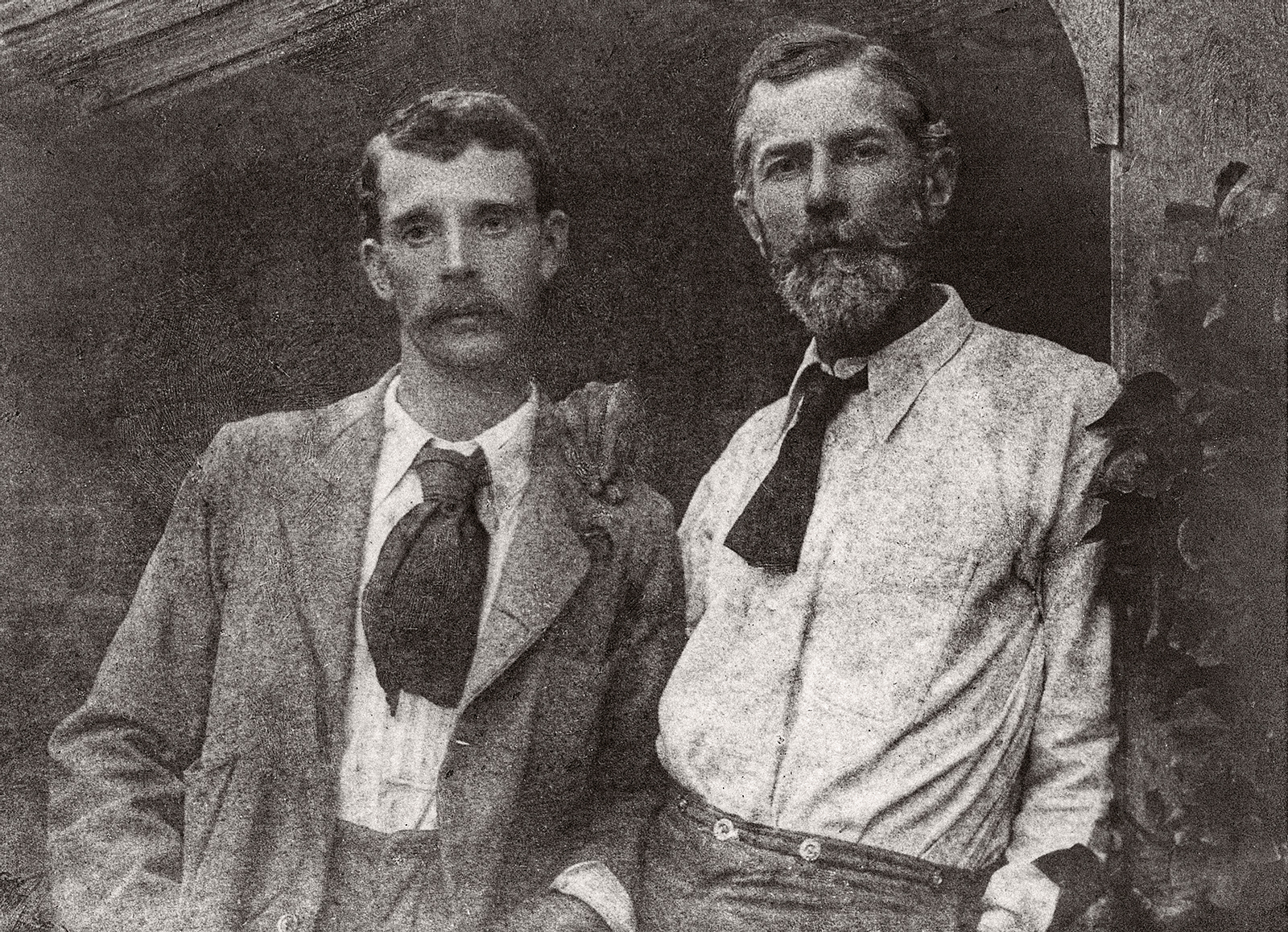 Edward Carpenter and George Merrill (left)