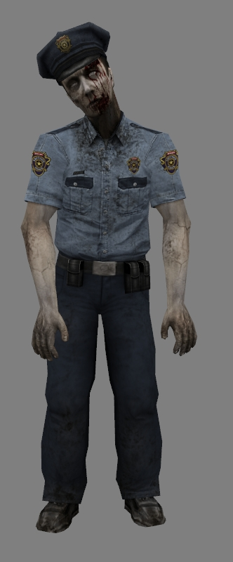 Zombie RPD officer