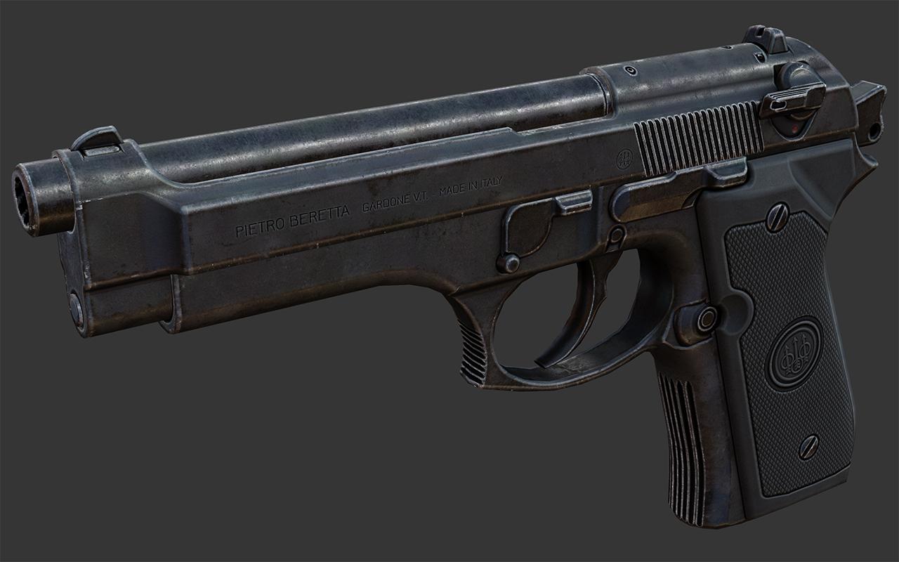 High-resolution Beretta, finished