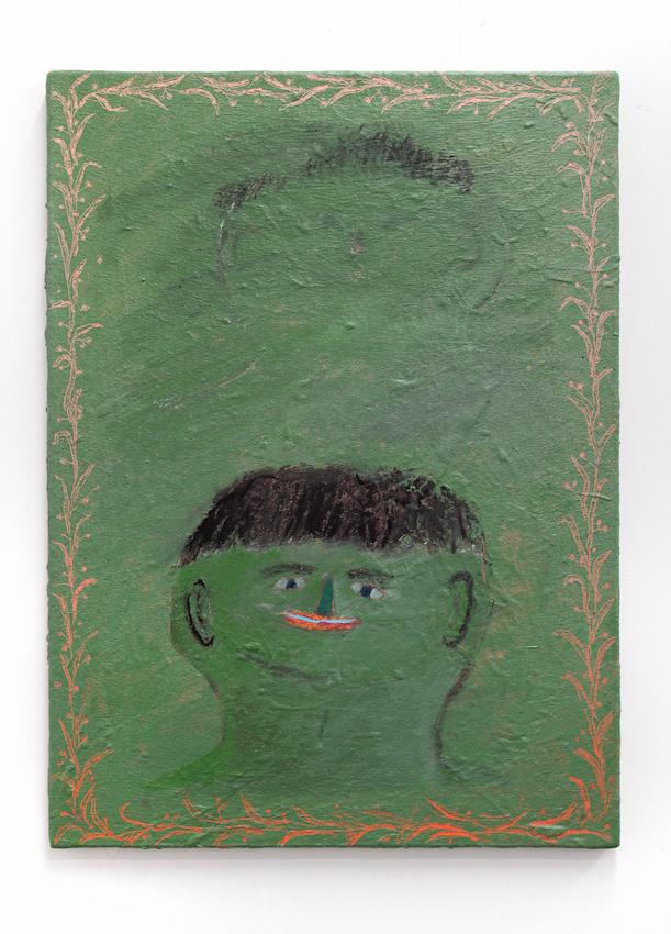 Un Portrait Vert , 2019  acrylic on linen  56 x 40cm