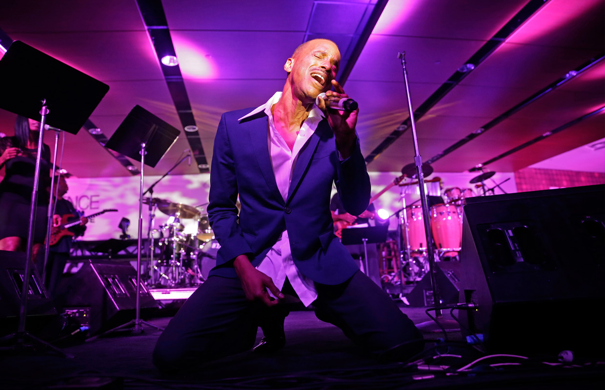 Tevin Campbell performs at the Essence Festival in New Orleans, Saturday, July 5. PHOTO: ASSOCIATED PRESS/GERALD HERBERT