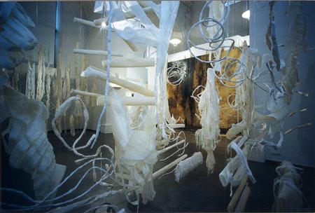 »Begehbare Bilder« - Installation Horizontal