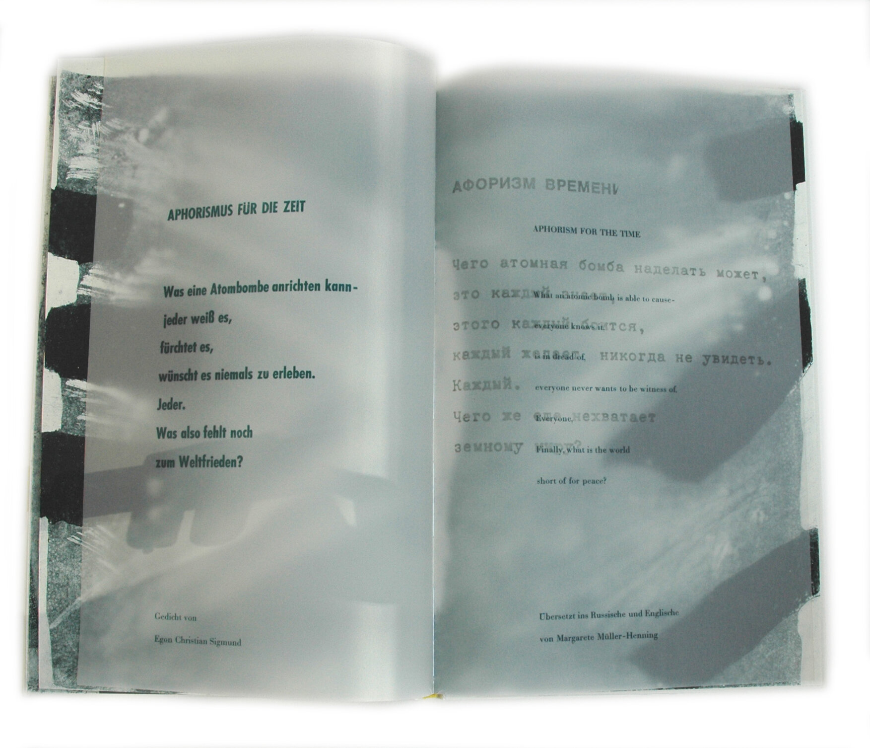Künstlerbuch »Weltfrieden«
