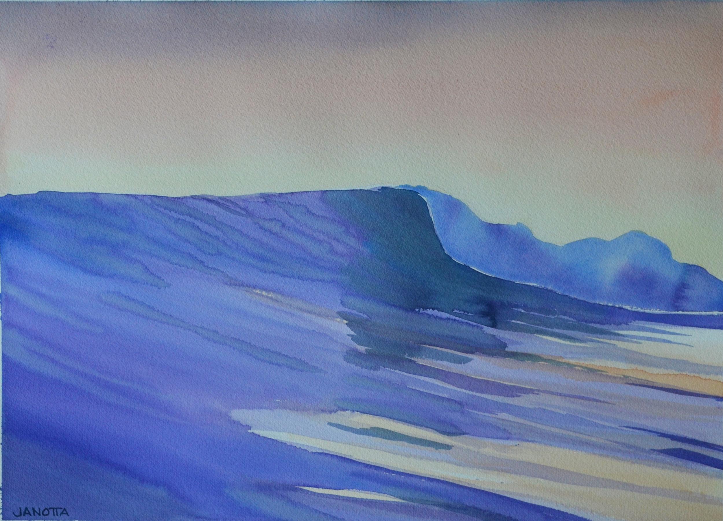 BIG WAVE 18x24 watercolor paper