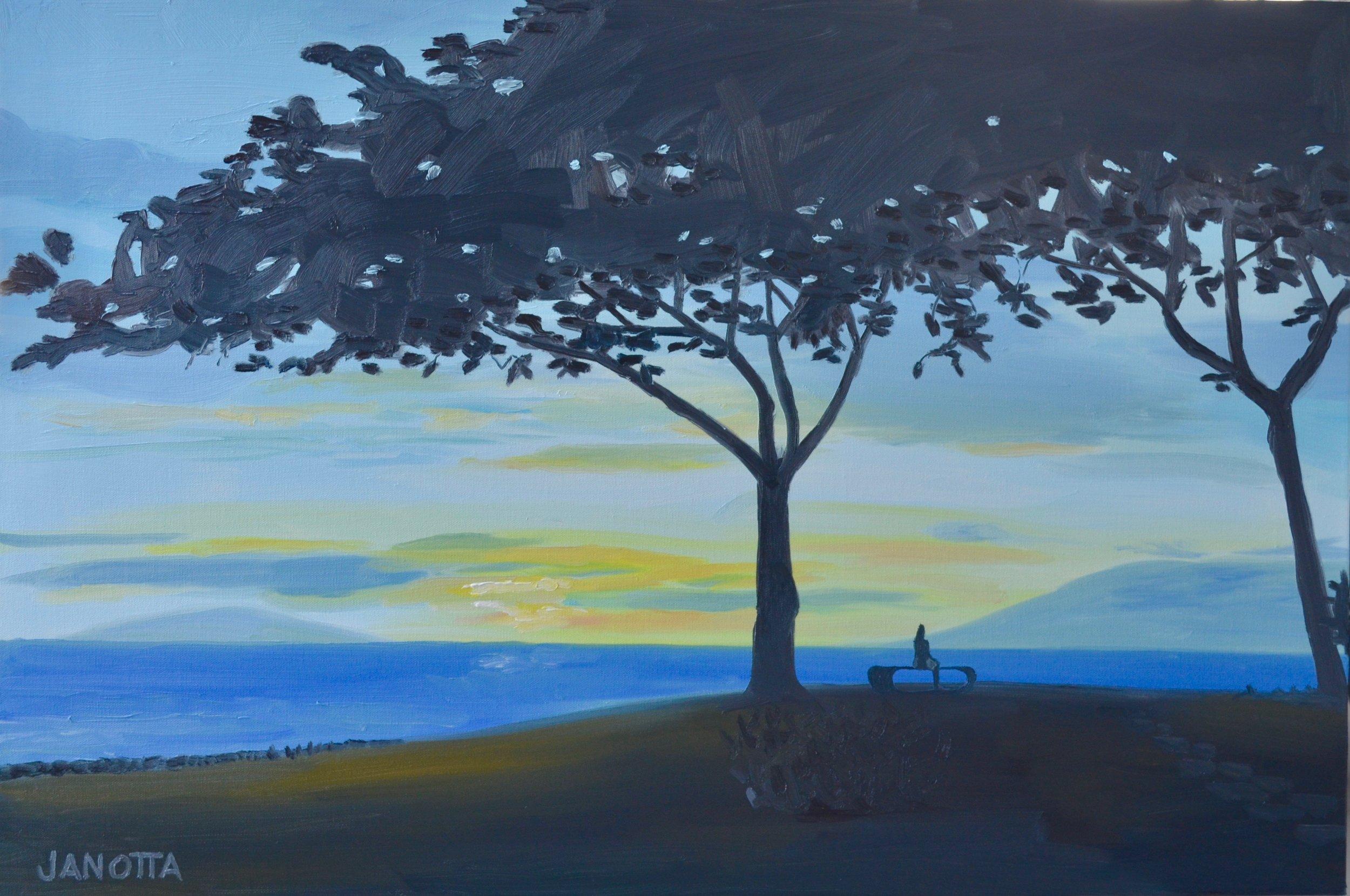 MR. B'S TREE 24x36 oiloncanvas