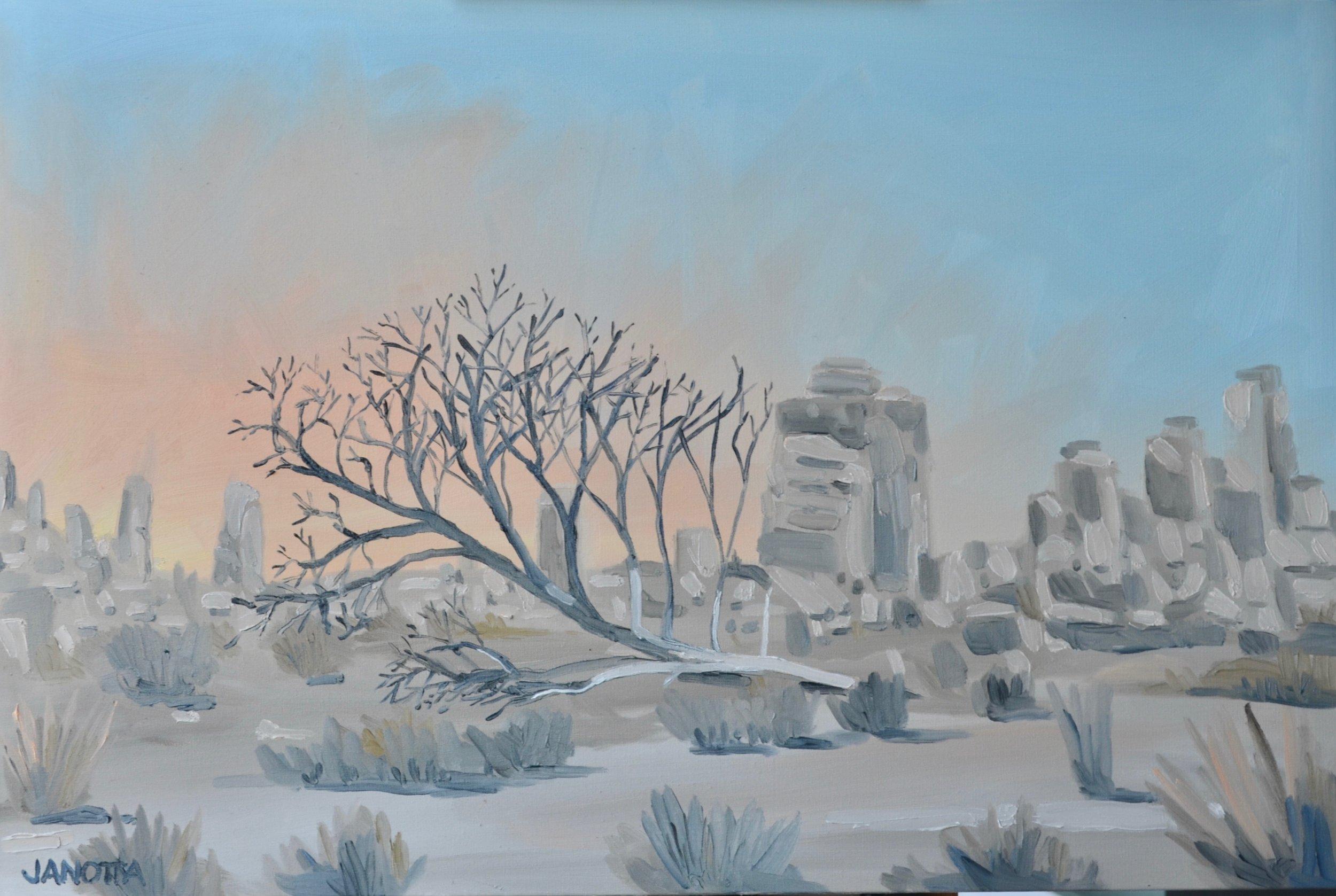 Joshua Tree Fallen Tree 20x36 oil on canvas.jpeg