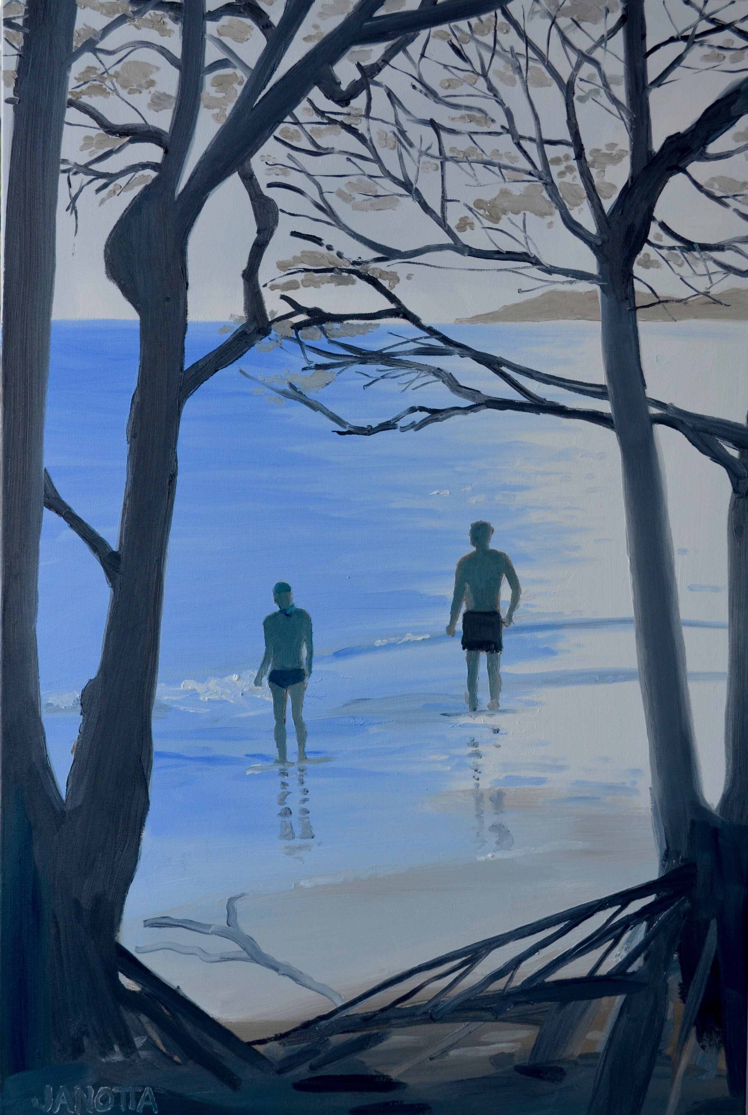 ROADSIDE BEACH 36x24 oil on canvas