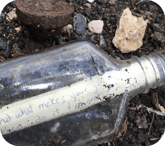 THE MYSTERY NOTE - RUBEN M. +150 PTSOur jovial ace from Michigan inscribed this note to a stranger and tucked it inside a bottle then hid it in a park. Can you find it?