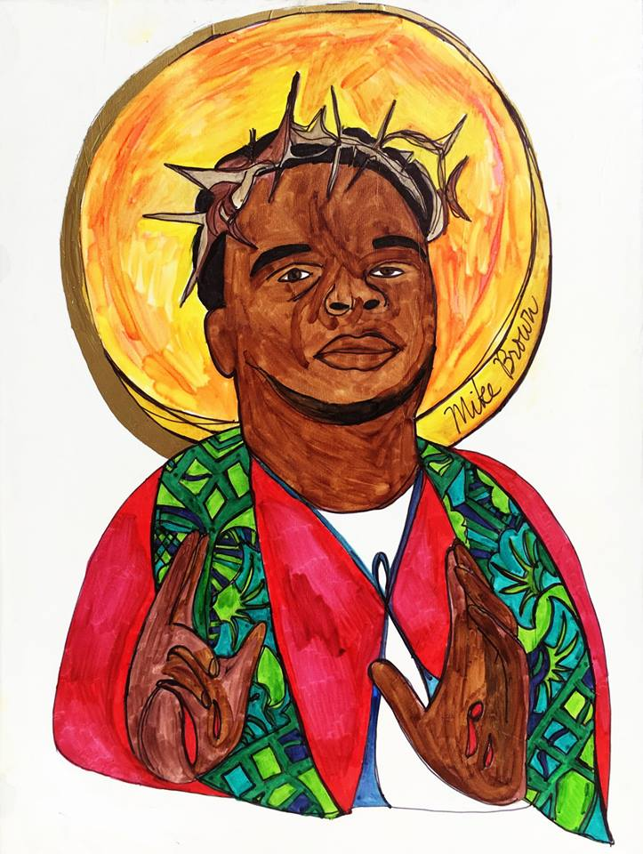 An icon in honor of Michael Brown