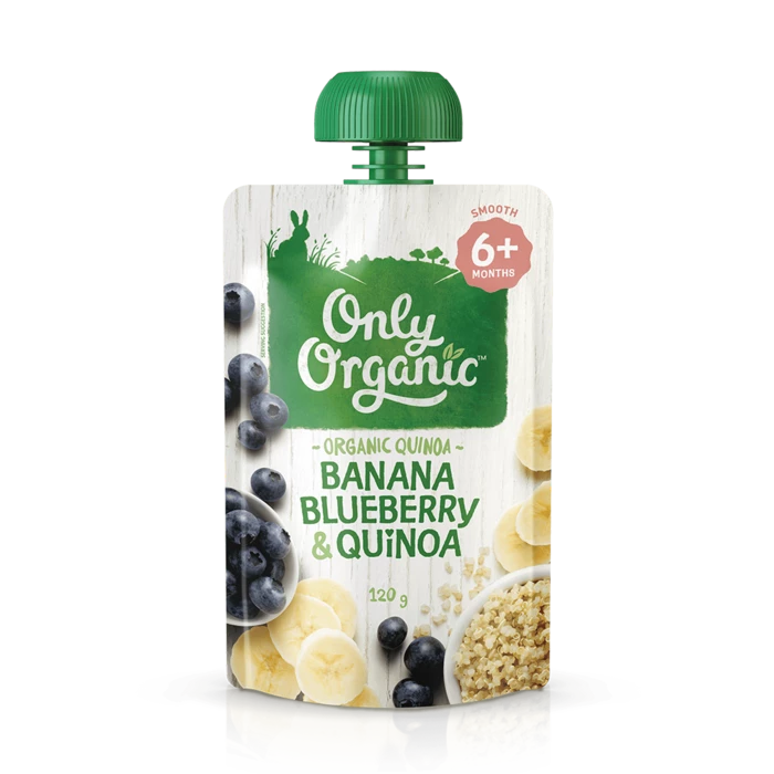Only Organic Banana Blueberry & quinoa 120g