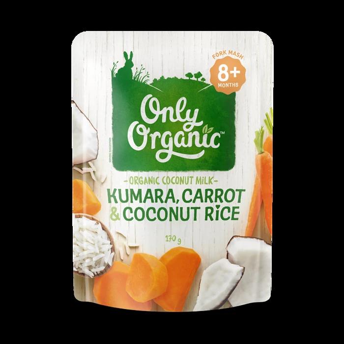 Only Organic kumara carrot & coconut rice 170g