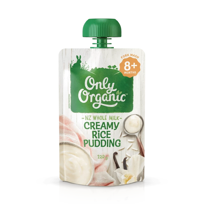 Only Organic creamy rice pudding 120g