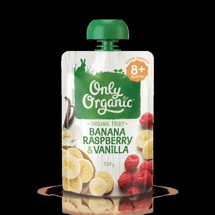 Only Organic Banana Raspberry & Vanilla 120g