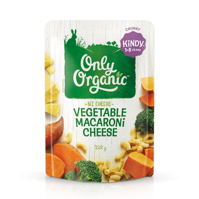 Only Organic Vegetable macaroni cheese 220g