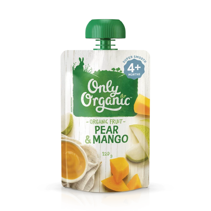 Only Organic Pear Mango 120g
