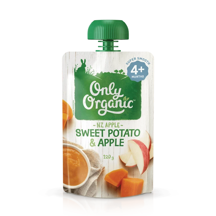 Only Organic sweet potato & Apple 120g