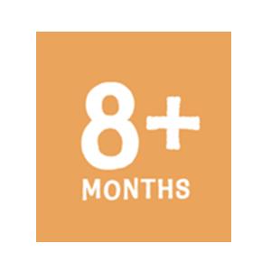 8+months button