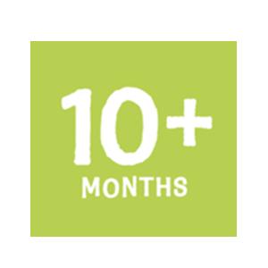 10+months button