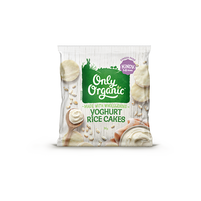 Only Organic yoghurt rice cakes 30g