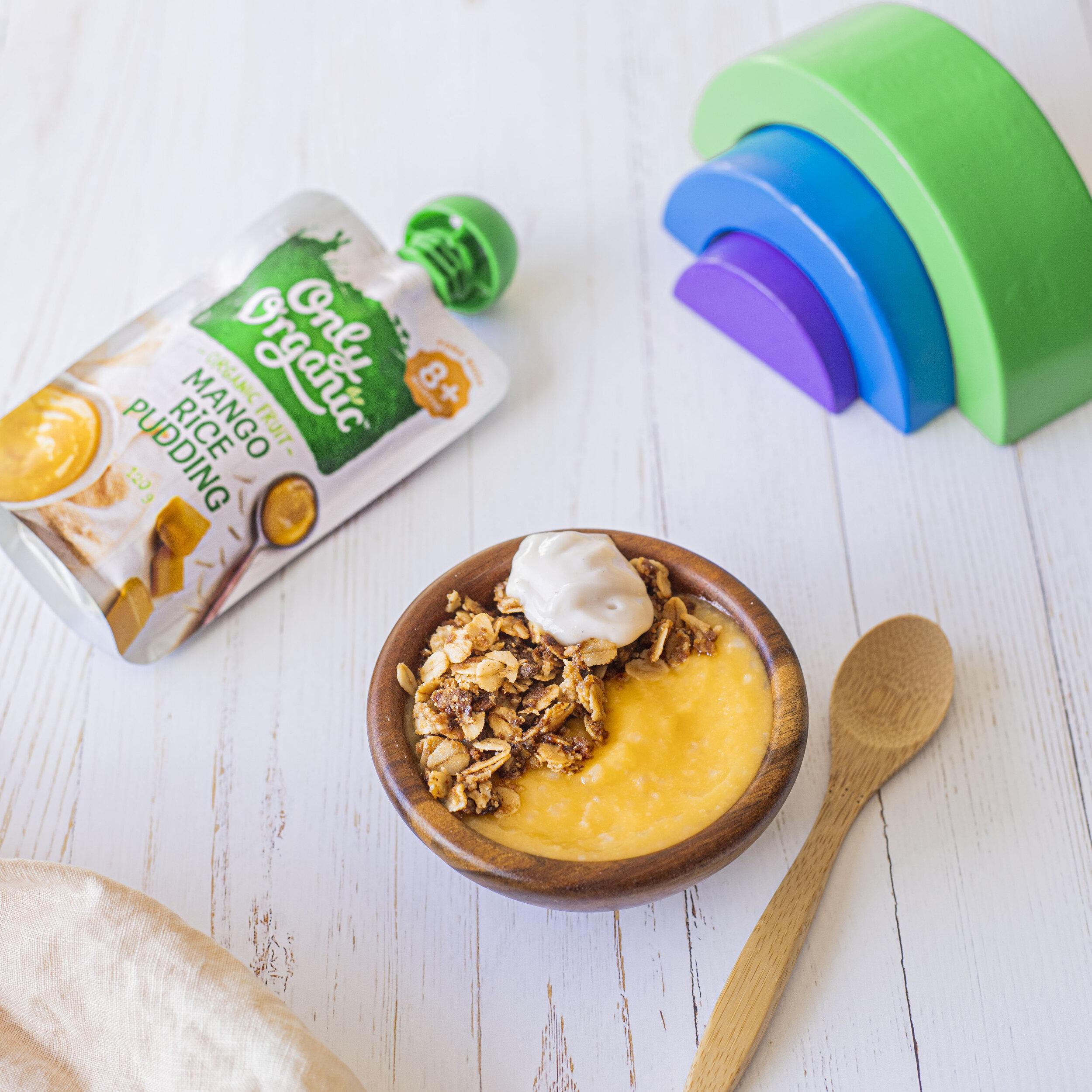mango rice pudding crumble recipe
