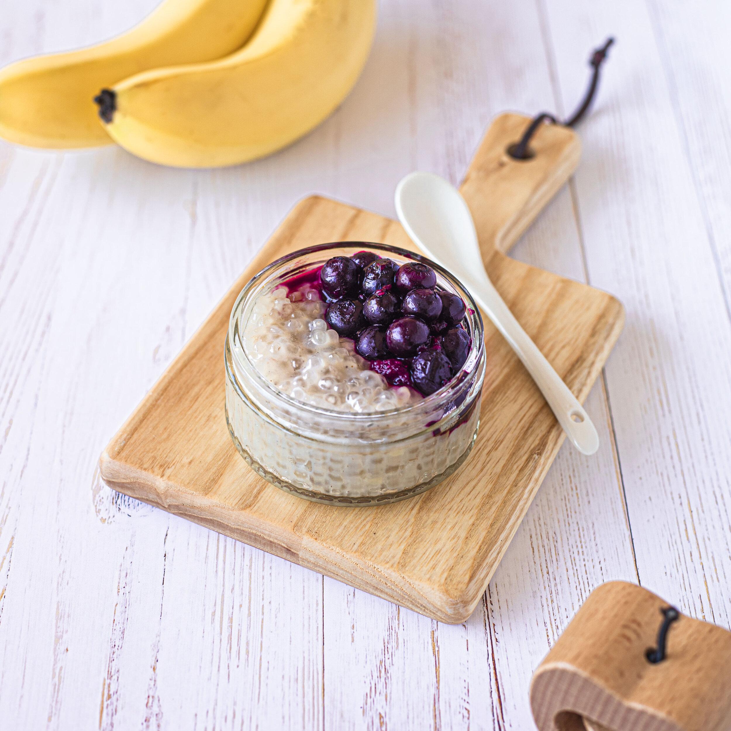 Coconut and banana sago