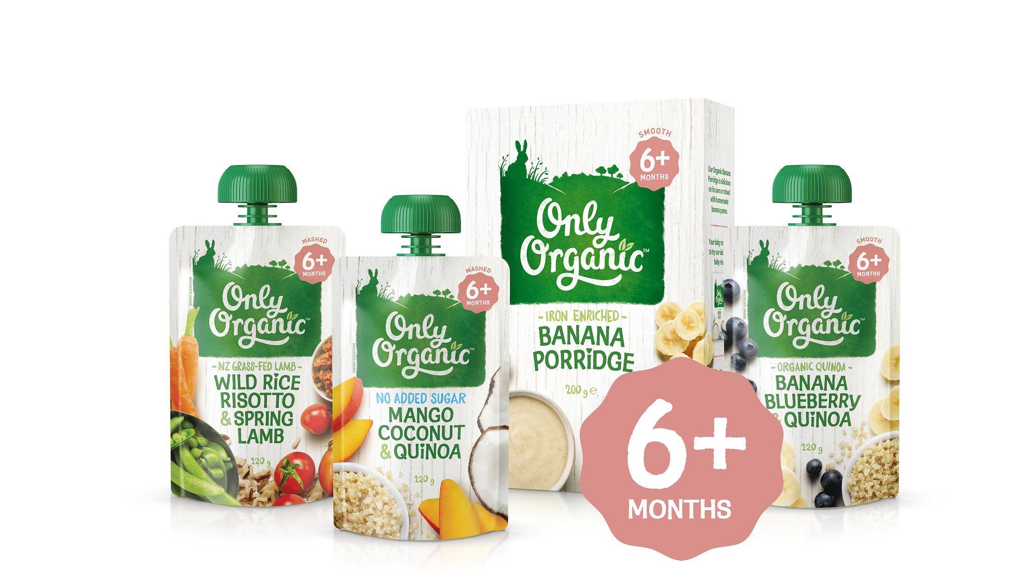 only organic 6 months range