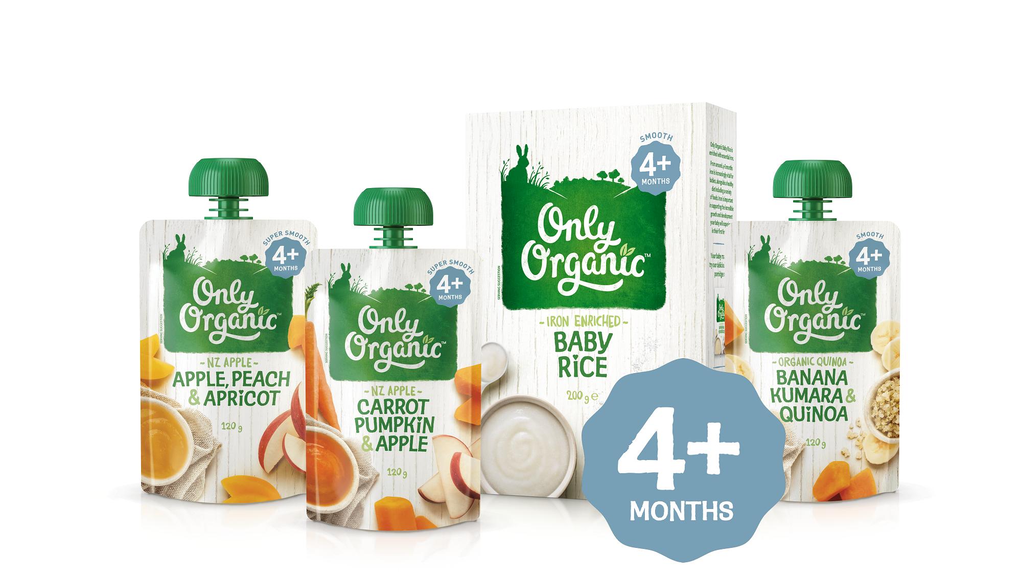 only organic 4 months range