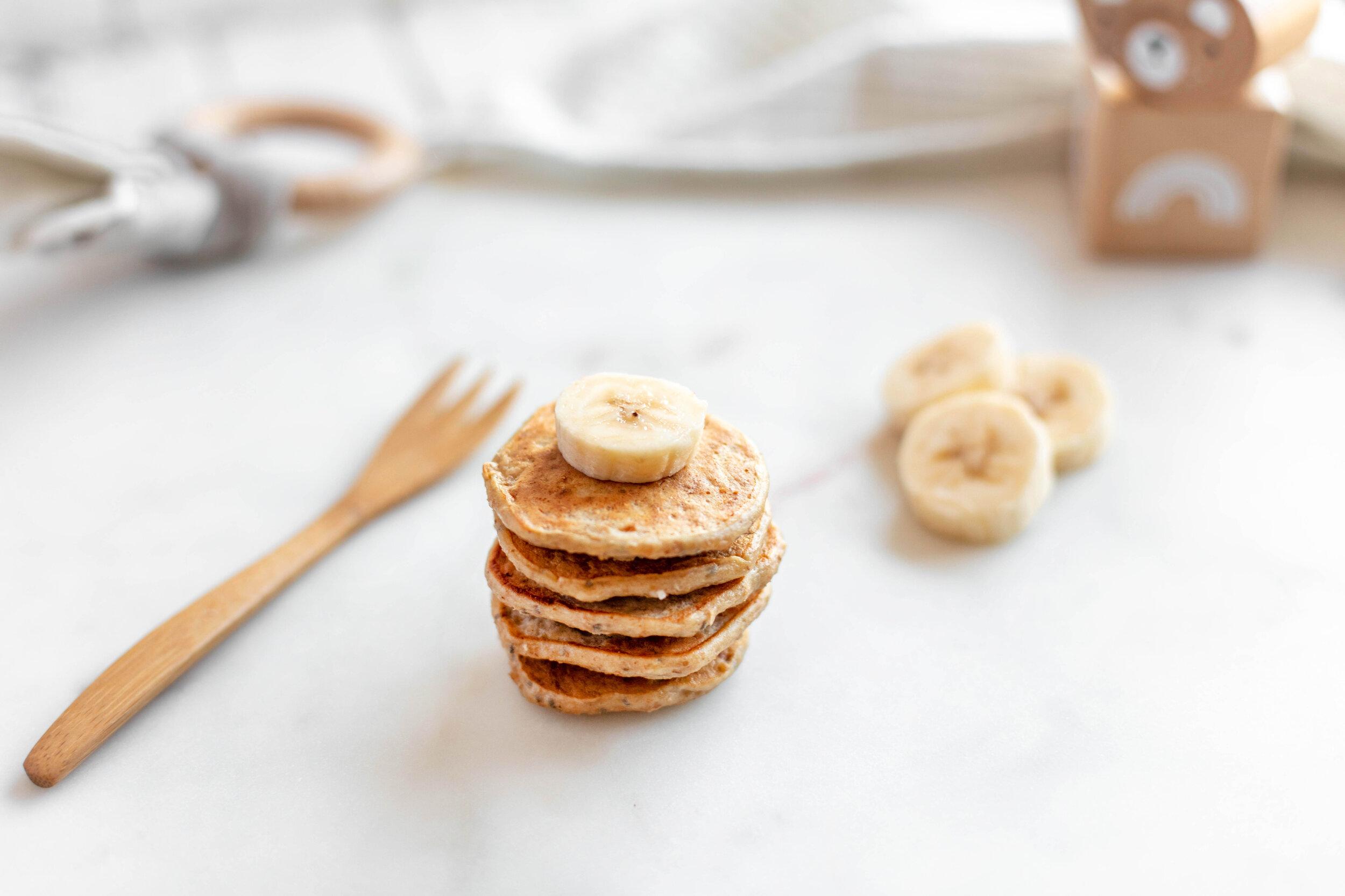 Baby Pancakes Made With Only Organic Banana Porridge