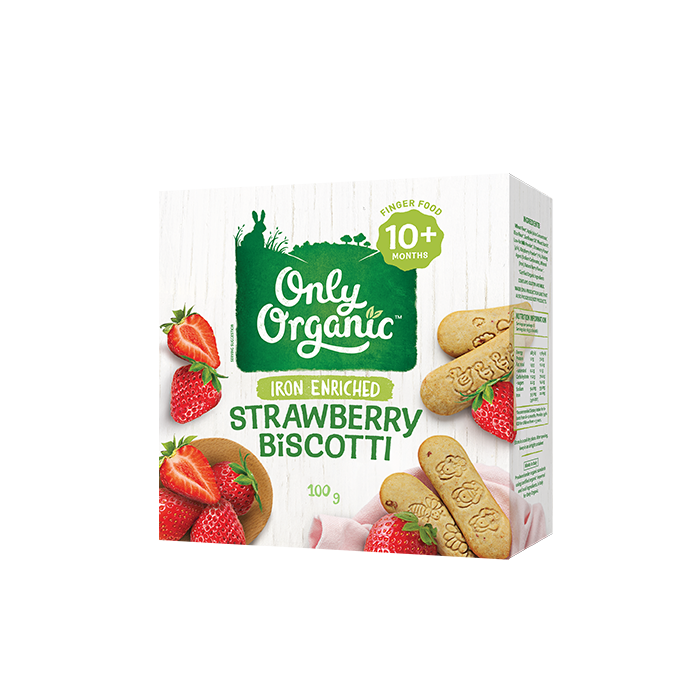 Only Organic Strawberry biscotti 100g