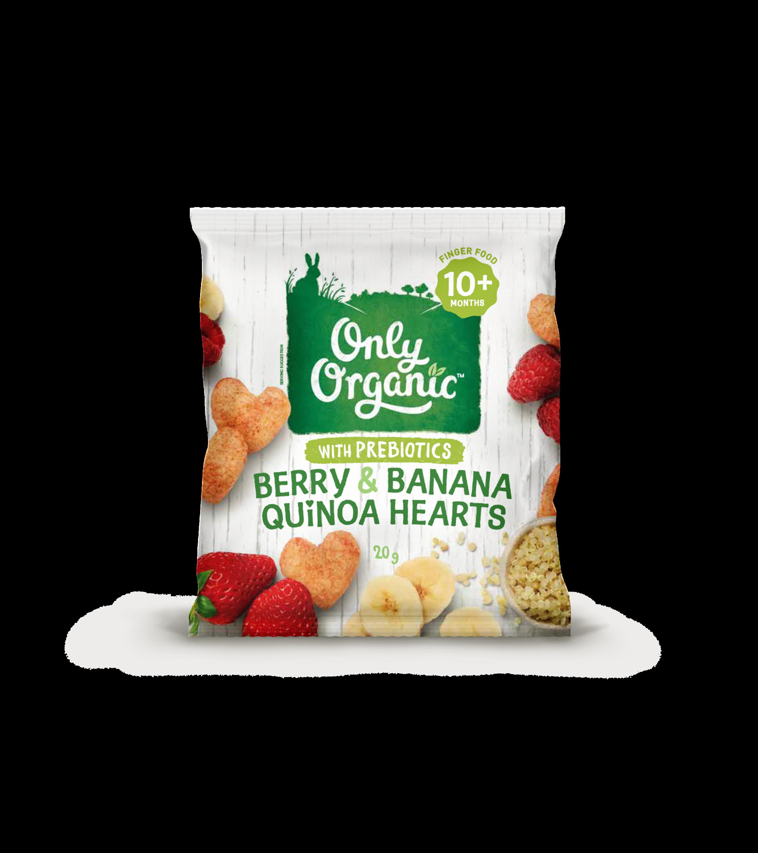 Berry & Banana Quinoa Hearts