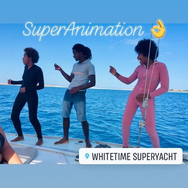 Sit back, relax or dance together with our crew & animation team🤘🏽🕺⛵️🌊🇨🇻 #dance #feel #music #sail #animation #happy #superanimation #super #superyacht #instadance #instadaily #instamagic #magic #atlanticocean #three #africandancers #mj #dancing #happyguests #happysailing #sea #atlantic #santa #maria #cape #verde #sailingday #full #day