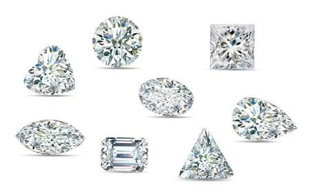 Diamond Shapes- Photo by    GIA