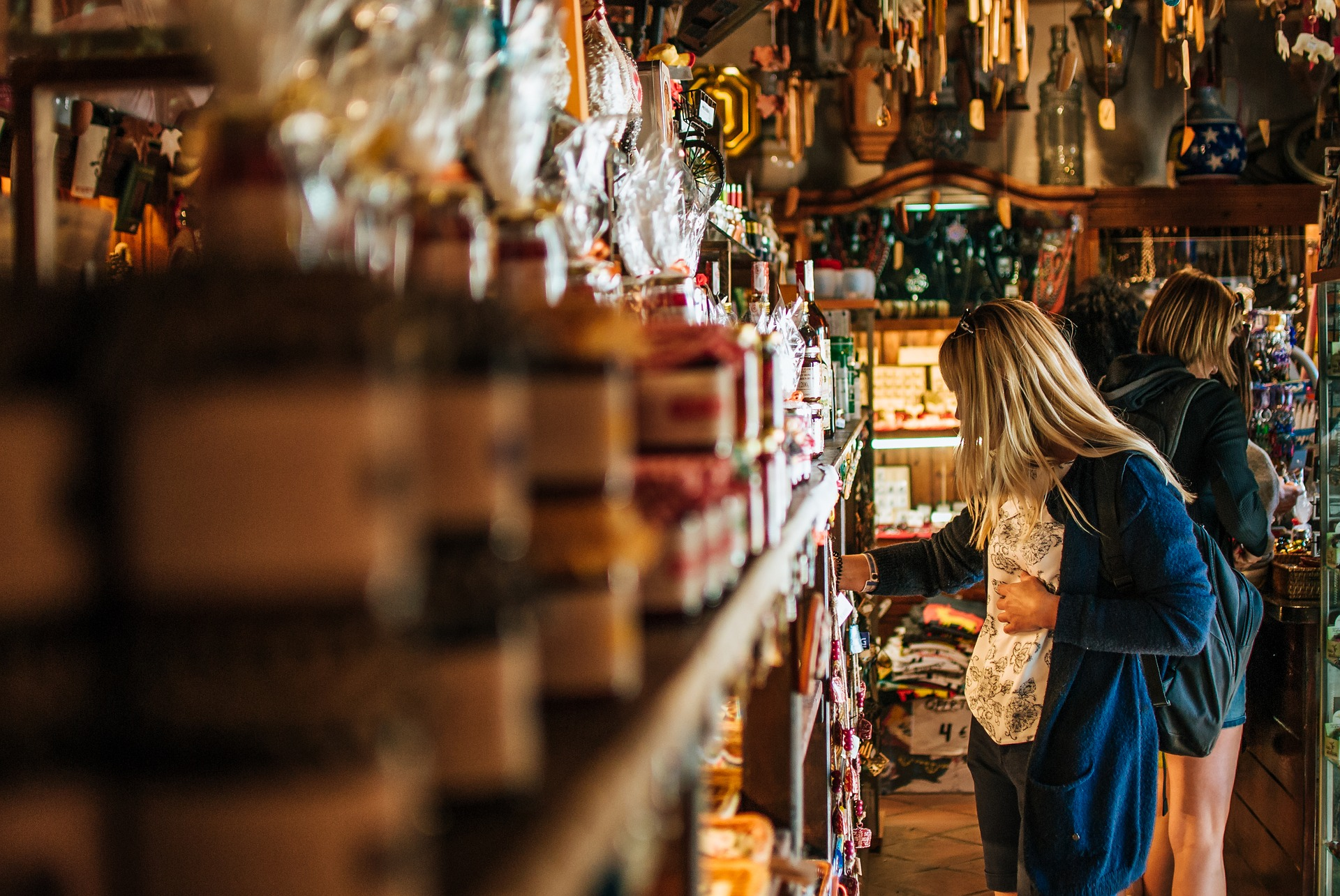 Woman in a shop