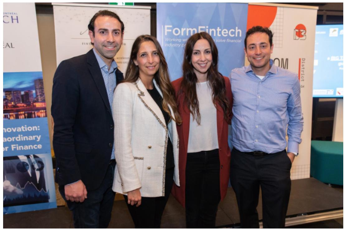 The BlockRewards family. Ottavio Rosada (left), Pina Marra (centre left) and Sabrina Rosada (centre right) and Onorio Marra (right)