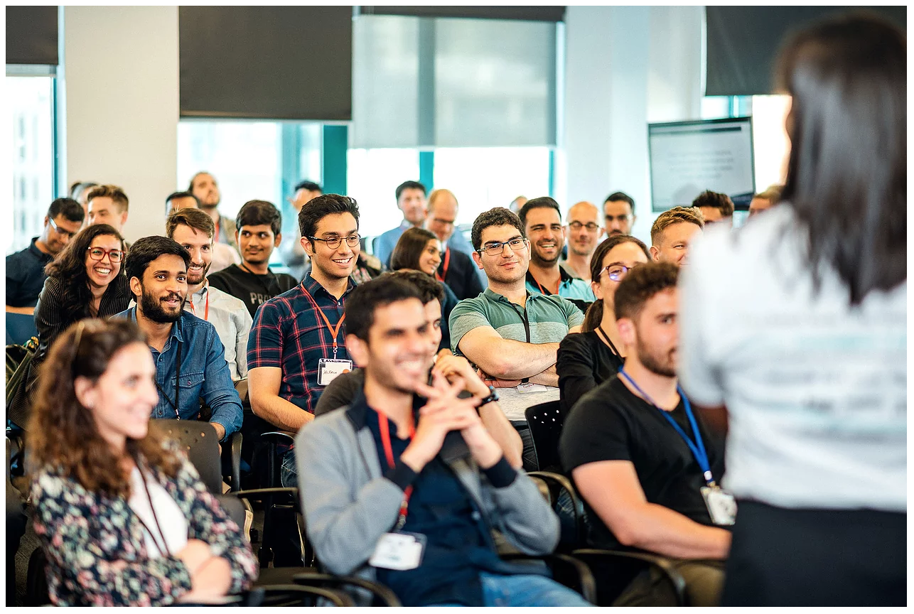 Participants having a laugh while learning about Fintech at Formathon 3.0 (2019)