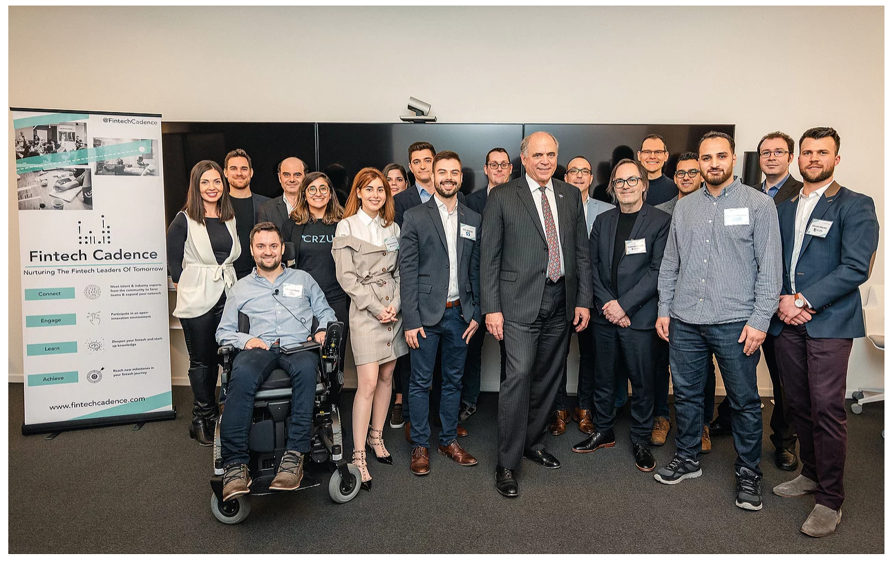Ascension's cohort in 2019, with Minister Pierre Fitzgibbon, Minister of Economy and Innovation