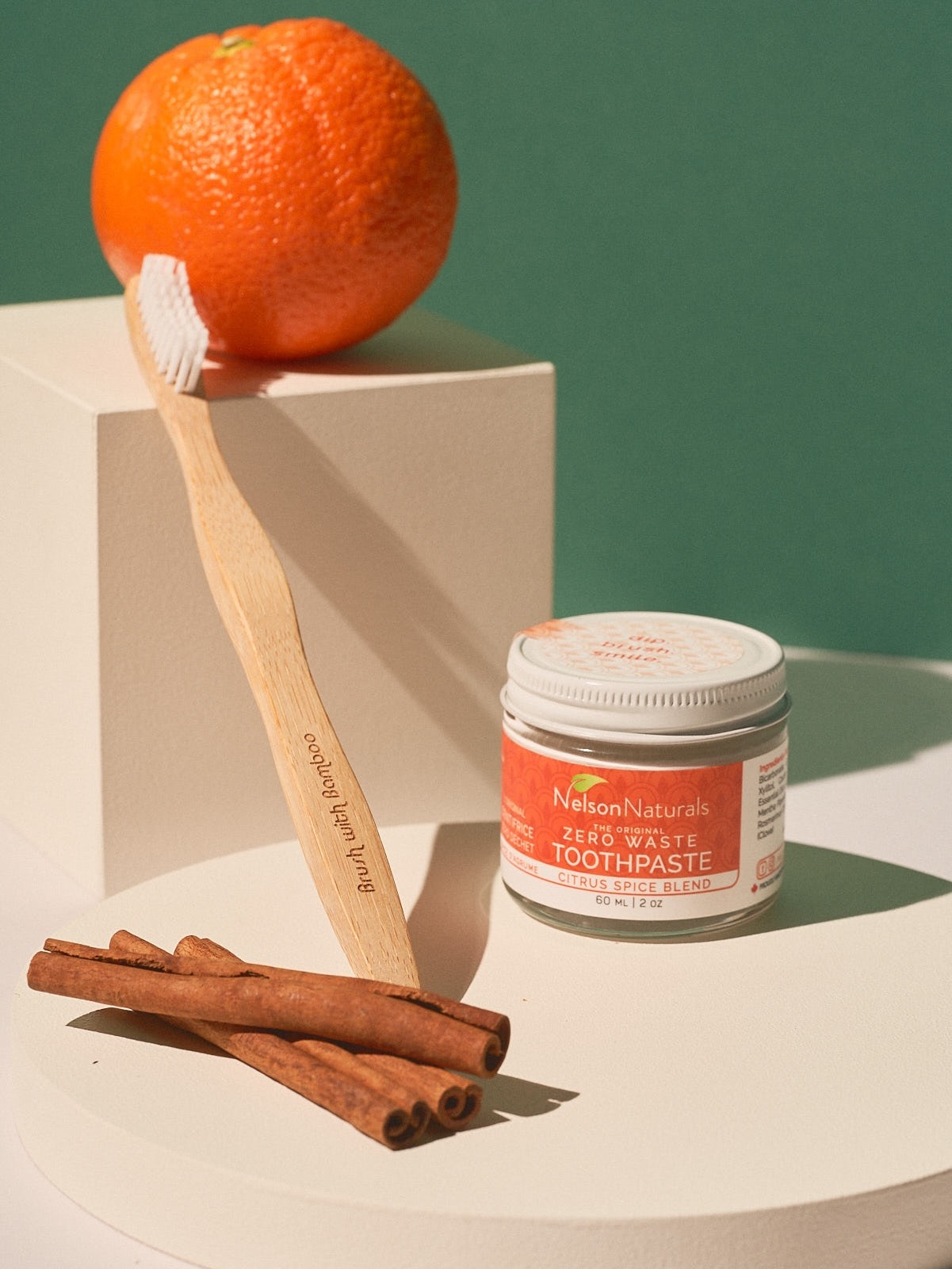 Nelson's Natural Toothpaste + Brush With Bamboo Toothbrush -