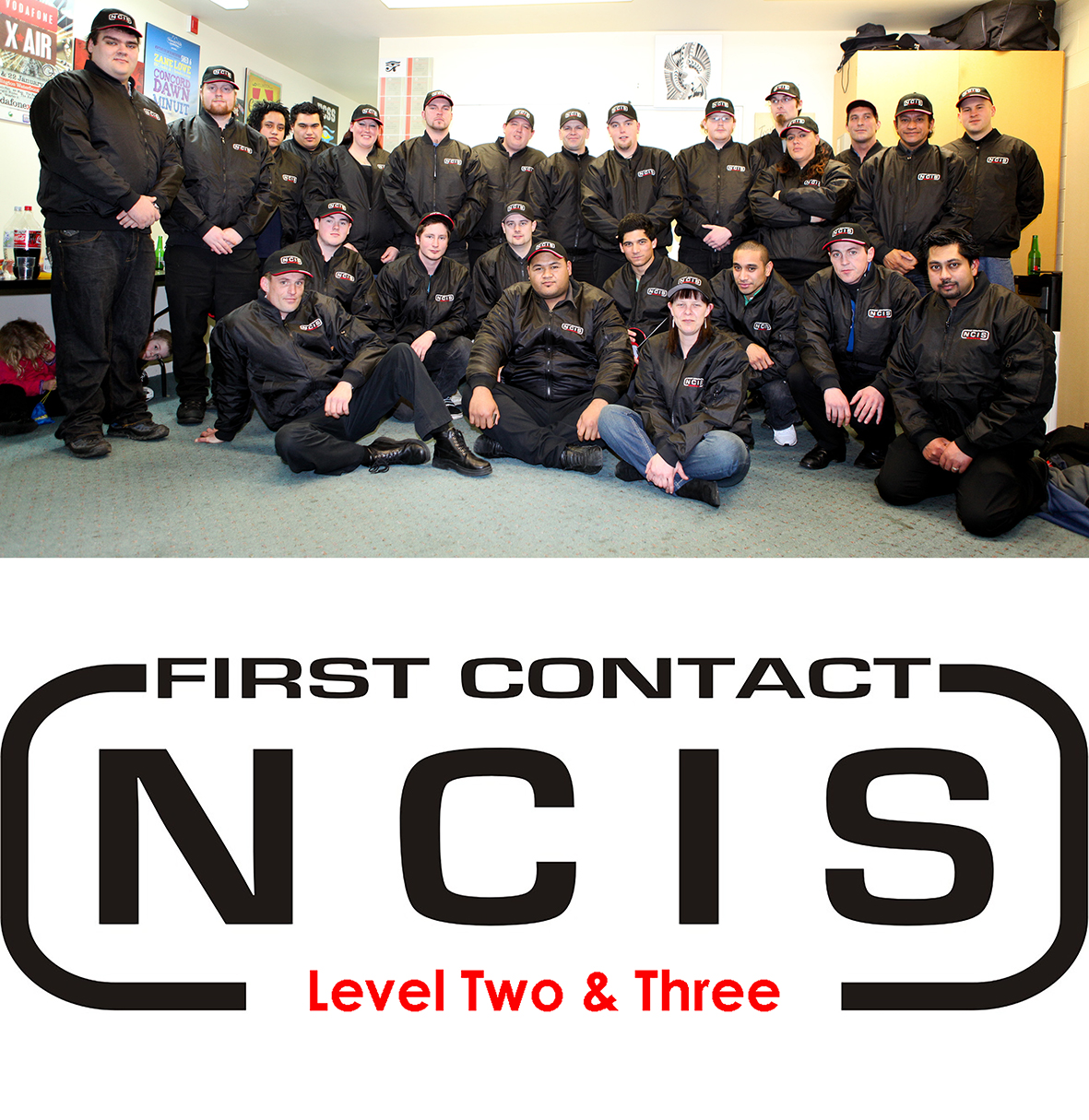 Recognising Effort - Our staff work hard to achieve their qualifications, as such, we like to make a big deal of it.Our Level 3 graduates receiving their National Certificate In Security (NCIS) caps and jackets