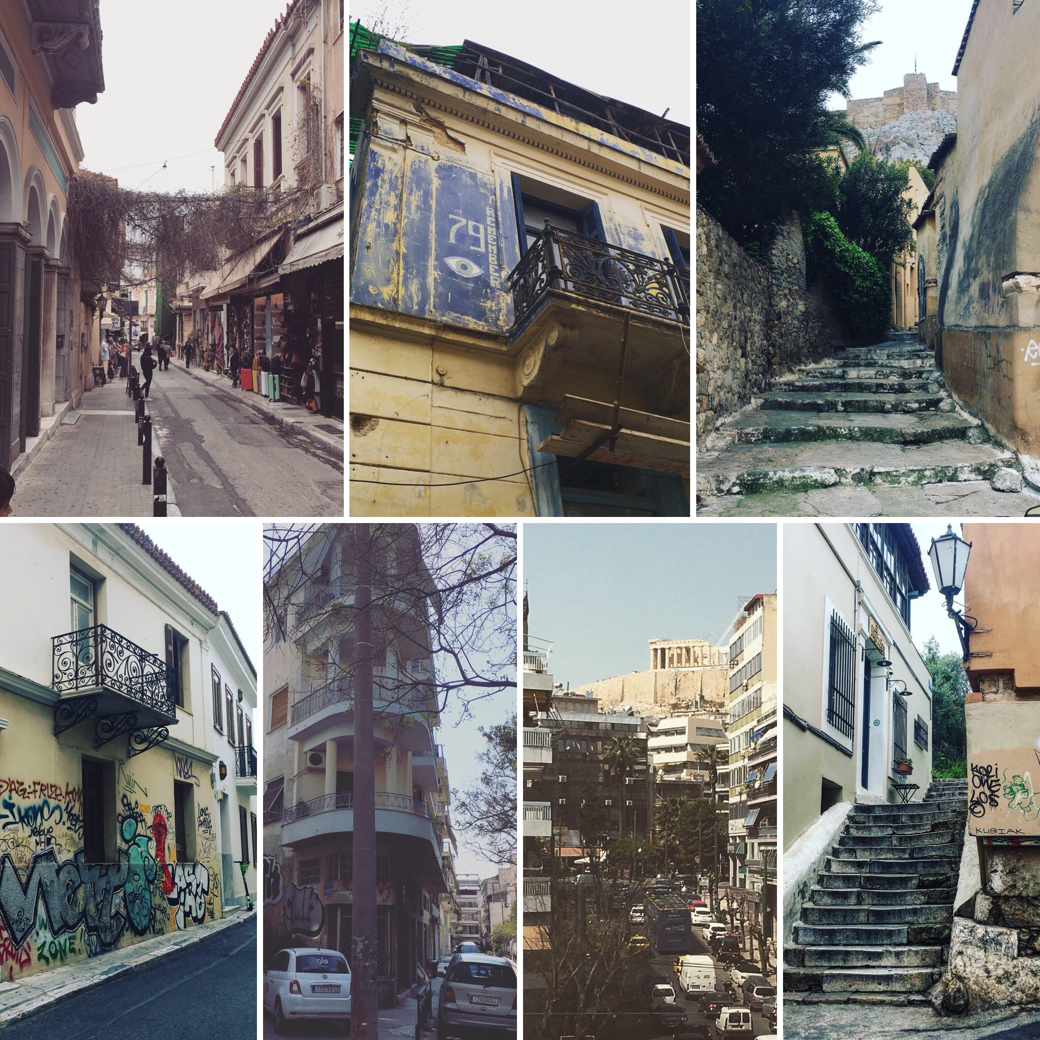 Some streets in Athens