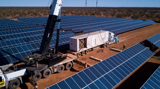 1.6MWp Solar PV – Over 5,000 solar panels - The project involved a design, construct and install a 1.6MWp solar facility in combination with a 2.6MWh battery energy storage system capable of diesel functionality to power the CSIRO's Square Kilometre Array Pathfinder; the world's most powerful radio-telescope system.Location: Murchison, 645km northeast of Perth, Western Australia.
