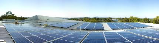 100kW grid-connected solar PV array - Despite the complex shape of City of Melville's office roof, the engineering team was able to maximise the installed capacity across the building.Location: Perth, WA