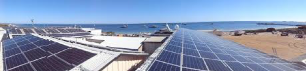 150kW grid-connected solar PV array - The project involved an instalation of a 150kW grid-connected solar PV array at the Indian Ocean Rock Lobster Processing facility in Cervantes, WA. The existing PV array integrated with the new PV system by using a single unified control system. This is managed by the reverse power relay to ensure that no electricity produced by the solar PV system was exported into the grid.
