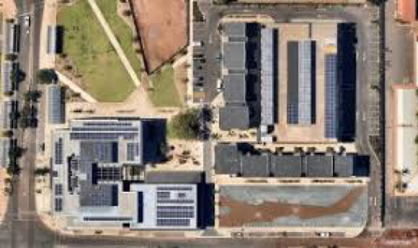 100 kW of solar PV and a leading edge solar smoothing battery and inverter system - At Karratha Quarter, the design involved two independent systems, each involving 100 kW of solar PV and a leading edge solar smoothing battery and inverter system.One system incorporated a custom designed and built car shade structure. These systems are based on a high-power 2C battery configuration integrating Samsung NMC batteries, ABB PCS100, in a containerised (10ft) configuration to facilitate pre-commissioning in Perth, WA.