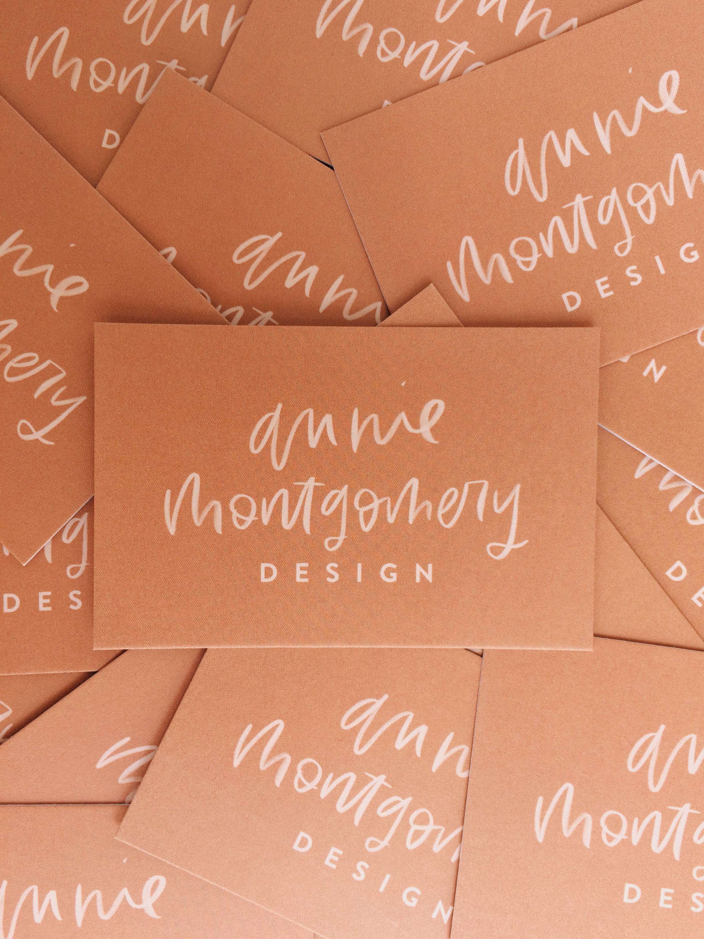 Annie Montgomery Design Business Cards