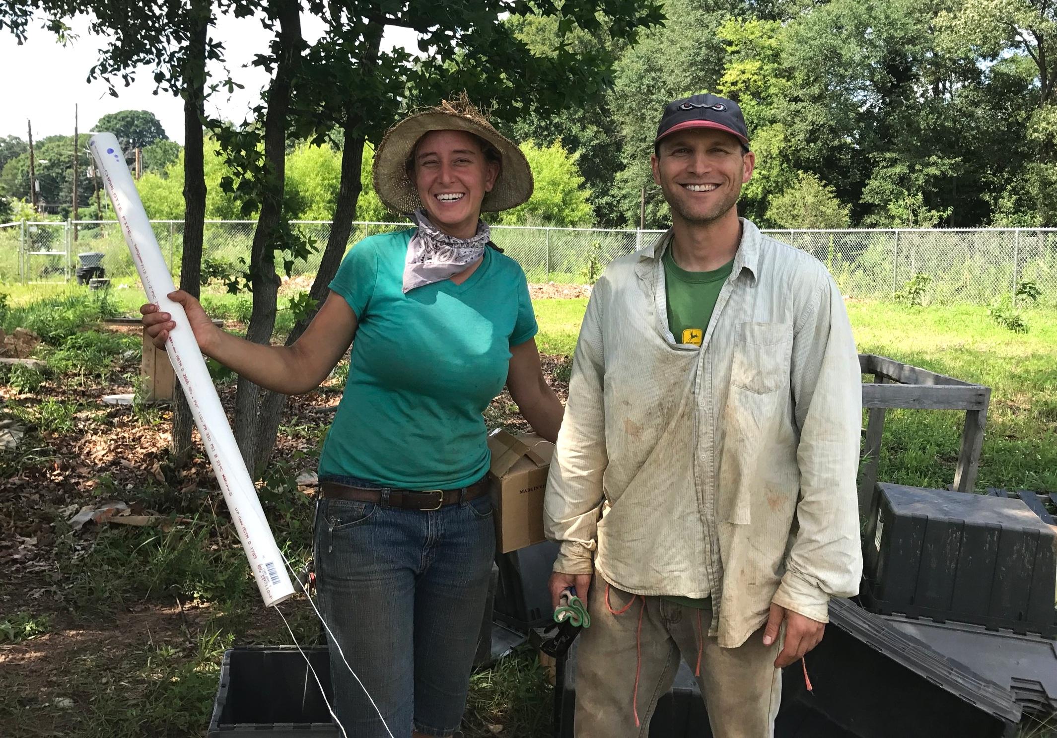 Andrea Ness and Andy Freidburg, owners of Aluma Farms